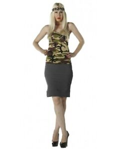 Women's Camouflage Vest Casual Sleeveless Strappy Summer Camisole Loose Cami Top