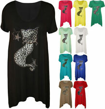 Viscose Animal Print Tunic Plus Size Tops & Blouses for Women