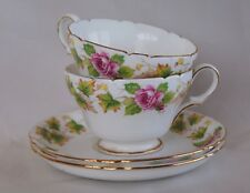 "A Pair of Shelley ""Royalty"" Fine Bone China Teacups, Saucers and Plates"
