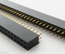 50x Double Row 2x 40pin Female 2.54mm Pitch Flat PCB Panel Breakable Pin Header