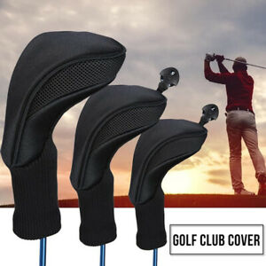 3Pcs/Set Golf Club Head Cover Driver 1 3/5 Fairway Woods Headcovers Long Neck