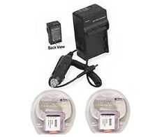 2X Batteries + Charger for Sony FDR-X1000 FDR-X1000V FDRX1000VR/W FDR-X1000VRW