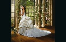Auth Eve of Milady Ivory and White Silk Wedding Dress Sz 6 (US size 2) #4272