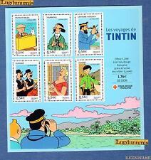 France Bloc N°109 Personnage Célèbres Les Voyages de Tintin 2007 Plié