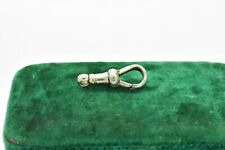 Antique vintage sterling silver lobster clasp old finding jewellery Albert #W571