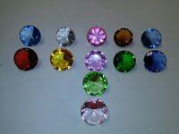 ONE RANDOM SONIC THE HEDGEHOG CHAOS EMERALD! 2 INCHES GLASS DIAMONDS! RARE!