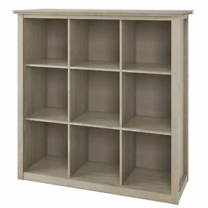 Artisan SOLID WOOD 45 inch x 43 inch Transitional 9 Cube Bookcase and Storage...