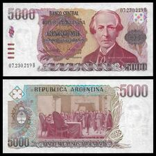 Argentina 5000 PESOS Serie B ND 1983-85 P 318 UNC OFFER !