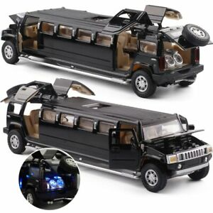 1:32Hummer Alloy Limousine Model Pull Back Flashing Musical Car Kids Toy Vehicle