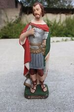 Rare Large Antique Plaster Chalkware Statue Saint Donatus San Donato