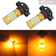 Amber Yellow 5202 H16 Car Truck Fog Driving Lights Daytime DRL 27-SMD LED Bulbs