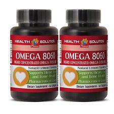 Omega 3 Fish Oil OMEGA 8060.Product of Norway Pharmaceutical Grade 2 Bottles