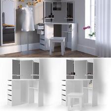 Toilette per il trucco Tavolino trucco Toilette tavolino specchiera Ariel Bianco