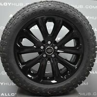 """GENUINE LAND ROVER DISCOVERY 5 STYLE 5002 20"""" INCH BLACK ALLOY WHEELS+TYRES X4"""