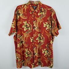 George Foreman short sleeved button front linen cotton men shirt sz 2XB/2X