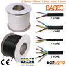 ELECTRICAL FLEX ROUND CABLE WIRE 3182Y 3183 3184Y 3185Y BLACK WHITE 2/3/4/5 CORE