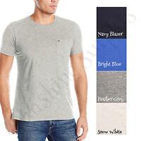 TOMMY HILFIGER Men's Crew Neck Pocket Logo T-Shirt, 100% Cotton,  - NWT