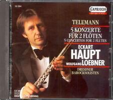 TELEMANN - 5 Double Flute Concertos - Eckart HAUPT / Wolfgang LOEBNER