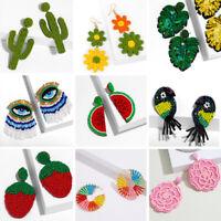 Boho Glass Seed Bead Tassel Earrings Drop Dangle Women Earrings Jewellery Gift