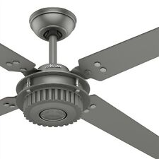 "Hunter 54"" Outdoor Ceiling in Matte Silver with Wall Control , 4 Blade"
