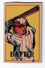 1950'  Japanese Baseball  Menko Card  ' BATTER '