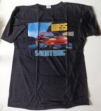 Men's Vintage Ford Motorsport The Boss Is Back Mustang Black T-Shirt Size Large