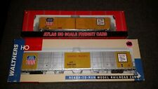 HO Scale Walthers and Atlas 86 Foot  and 60' foot Auto Boxcars. Union Pacific