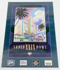 1995 SUPER BOWL XXIX 29 Poster AFC San Diego Chargers NFC San Francisco 49ers CA