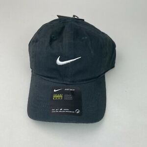 NWT Nike Infant Solid Swoosh Cotton Baseball Cap Hat 12M/24M Anthracite
