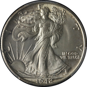 1942-P Walking Liberty Half PCGS MS65 Nice Luster Nice Strike