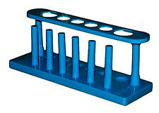 Blue Plastic 6 Hole Test Tube Rack Stand Lab Holder Storage Container Science