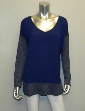 LANE BRYANT NWT Blue/Gray Chiffon Panel Textured Long Sleeve Shirt sz 14/16W