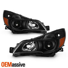 For 2010-2014 Subaru Legacy / Outback Projector Black Headlights Pair Left+Right