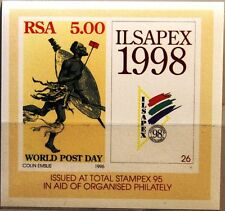 RSA SÜDAFRIKA SOUTH AFRICA 1995 Block 39 Weltposttag Post afr. Postläufer MNH