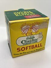 Super Clincher Cf12N Double Header Leather Softball Ball Vintage Sealed Box