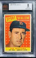 1958 Topps #485 Ted Williams Bvg 8 Psa Crossover?