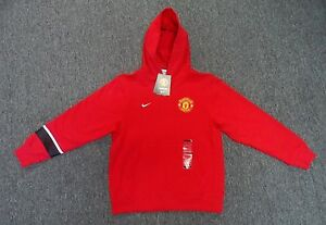 Authentic Nike Manchester United Boys Core Hoody Color Red