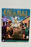 Sierra RTS Rise & Rule of Ancient Empires Strategy PC Big Box Game Win 95 3.1