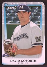 2011 Bowman Draft Prospects #BDPP50 David Goforth Milwaukee Brewers