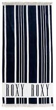 Roxy Cant Wait Beach Towel - Dress Blues Vertical Stripes - New