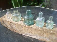 More details for five nice victorian  glass ink bottles inc. marked