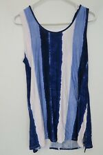 Cable & Gauge Longline Tunic with Lace Up Back - Womens Large - Blue - NWT