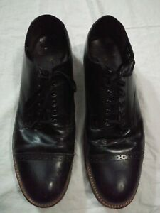 Stacy Adams Shoes Size 11 EE Black Leather