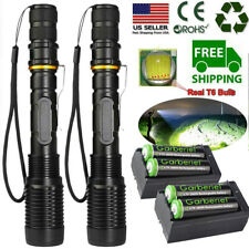 Tactical Police 990000Lumens T6 LED 5Modes Flashlight Aluminum Focus Torch