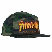 Thrasher Magazine Flame Camo Logo Skateboard Hat Snapback Cap Mens Black New