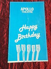 HAPPY BIRTHDAY  - APOLLO THEATRE PROGRAMME - JULIA FOSTER - IAN LAVENDER