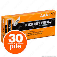 30 Batterie Duracell Mini Stilo Industrial Procell Pile Alcaline Ministilo AAA