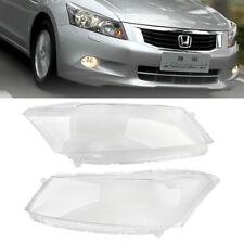 Left & Right Headlamp Lens  Headlight Cover Lenses for Honda Accord 2008-2012