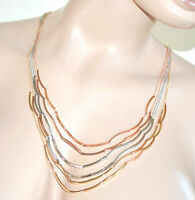 COLLANA lunga oro argento donna cerimonia collar necklace collier ожерелье 109