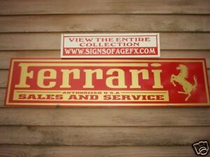 Ferrari Garage Signs For Sale Ebay